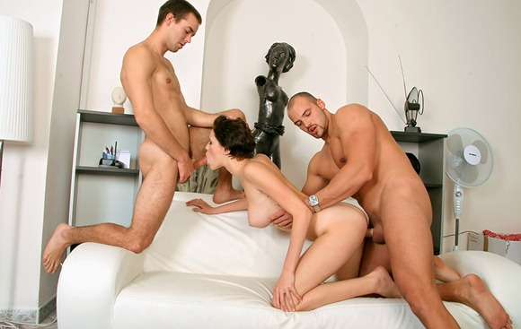 bisexual-guys-sharing-one-busty-chick
